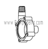 March Pump Part # 0115-0057-1000 - Rear Housing