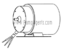 March Pump Part # 0125-0088-1000 - Motor