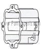 March Pump Part # 0130-0066-0100 - Motor Bracket