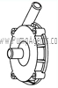 March Pump Part # 0135-0118-1000 - Rear Housing