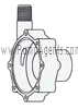 March Pump Part # 0150-0031-0100 - Rear Housing