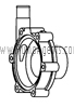 March Pump Part # 1008-0001-1000 - Rear Housing