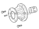 Oberdorfer Pump Part # 11301 - Motor Mounting Kit