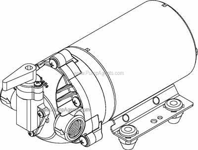 Shurflo 8000-812-639 Diaphragm Extraction Pump - 115 VAC