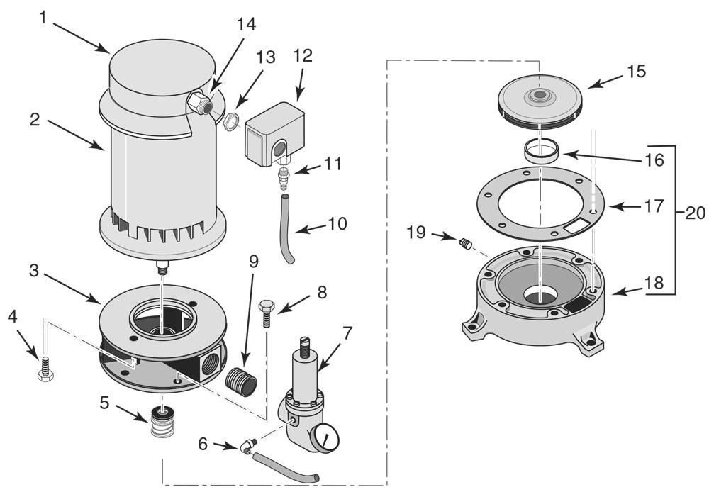 Parts for Sta Rite Pump model # SSJE